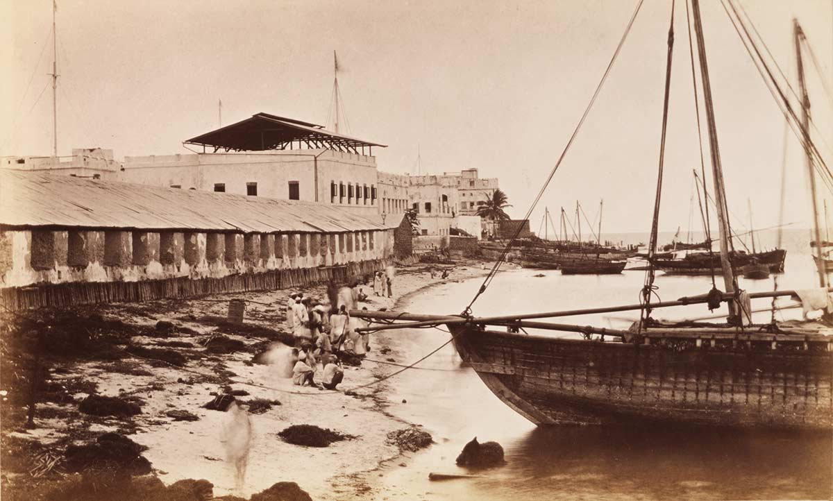 The Old Customs House and the Landing Beach in Zanzibar Stone Town