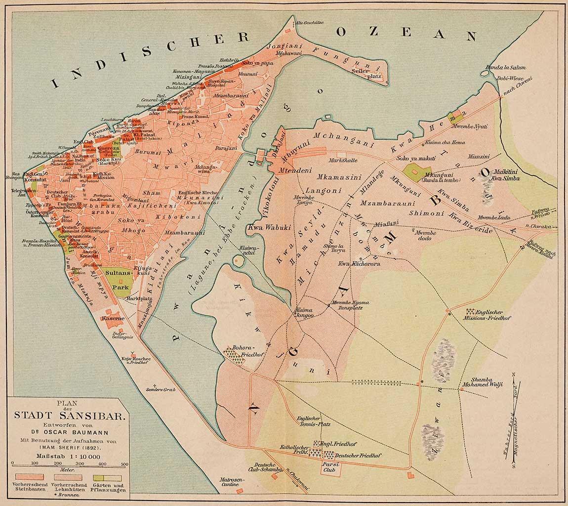 Zanzibar map 1890